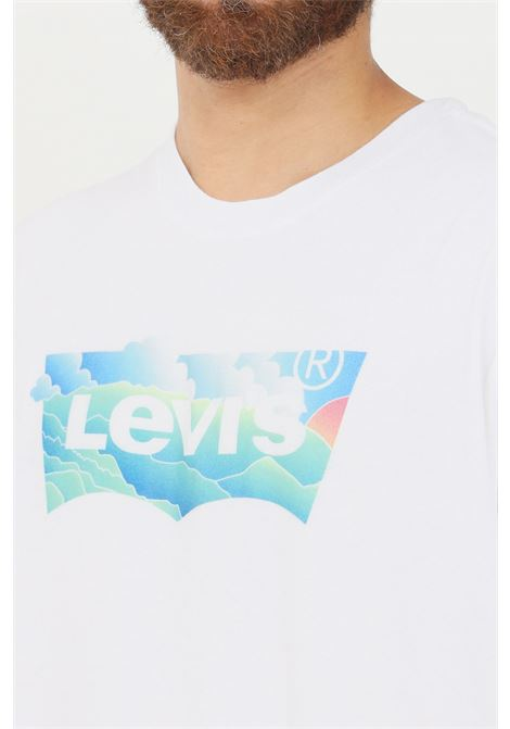 White men's t-shirt by levi's with front print, short sleeve LEVI'S | T-shirt | 16143-02670267