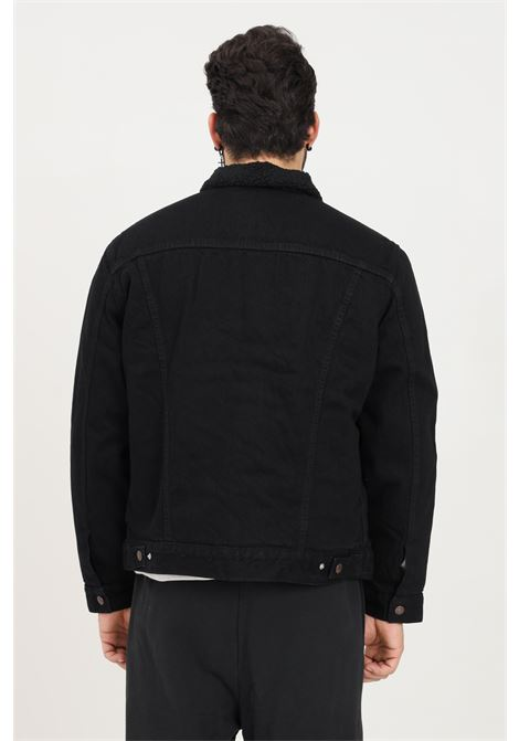 Black denim men's jacket by levi's with fur  LEVI'S | Jacket | 16365-01000100
