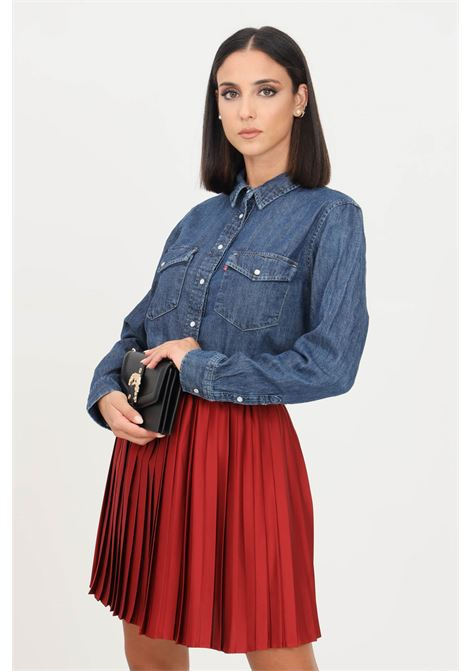 Camicia donna blue levi's casual in denim con bottoni a pressione LEVI'S | Camicie | 16786-00070007