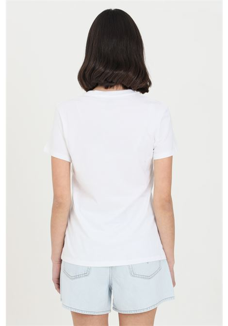 White t-shirt with front logo print, basic model with short sleeves. Levi's   LEVI'S   T-shirt   17369-00530053