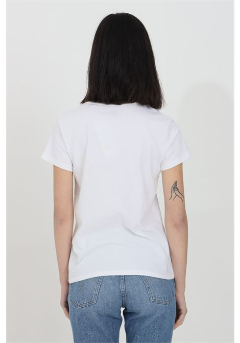 White t-shirt in solid color with contrasting logo on the front, basic model with short sleeves. Levi's LEVI'S   T-shirt   17369-12491249