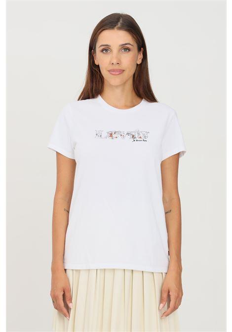 T-shirt donna bianco levi's a manica corta con logo frontale LEVI'S | T-shirt | 17369-16231623