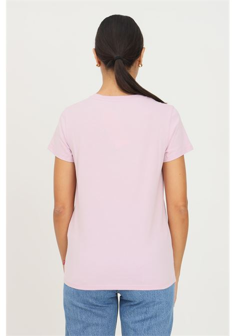 Pink women's t-shirt by levi's with logo print on the front, short sleeve LEVI'S | T-shirt | 17369-16521652