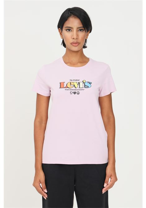 Pink women's t-shirt by levi's with front print, short sleeve LEVI'S | T-shirt | 17369-1710017100