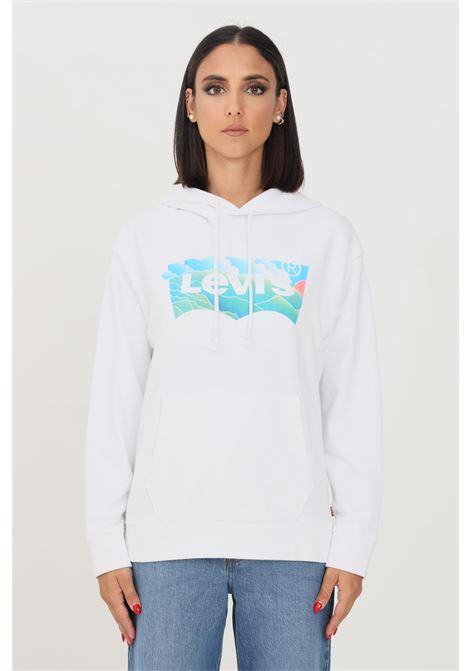 Felpa donna bianco levi's con cappuccio LEVI'S | Felpe | 18487-00690069