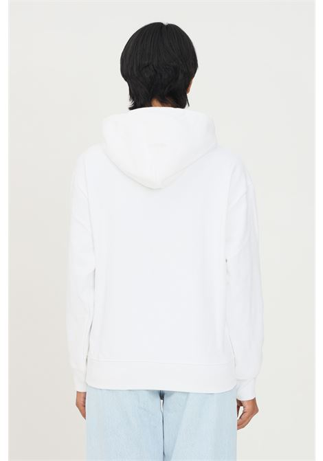 White women's hoodie by levi's with contrasting logo on the front LEVI'S | Sweatshirt | 18487-00790079