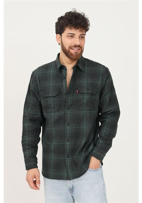 Green men's shirt by levi's casual model with front pockets LEVI'S | Shirt | 19587-01650165