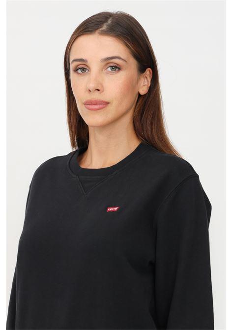 Black unisex sweatshirt by levi's crew neck model LEVI'S | Sweatshirt | 35909-00030003