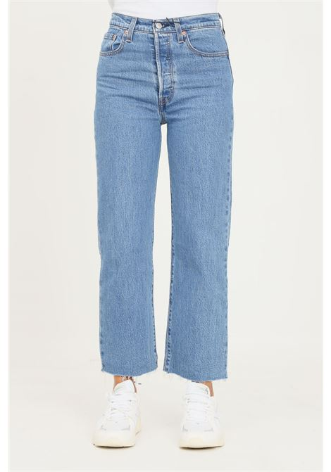 Blue women's ribcage straight ankle jeans by levi's LEVI'S | Jeans | 72693-00910091