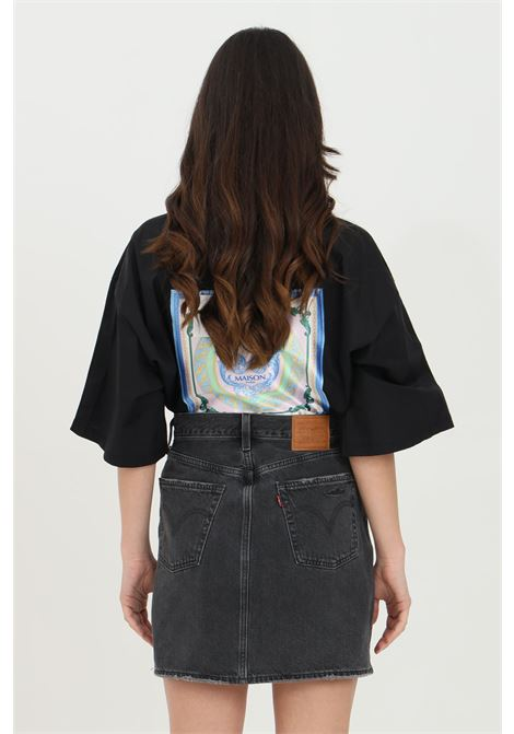 Black skirt with unstructured high waist. Levi's LEVI'S   Skirt   77882-00180018