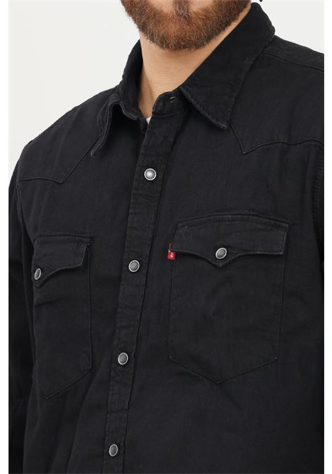 Black men's barstow western standard shirt by levi's casual model with buttons LEVI'S | Shirt | 85744-00020002