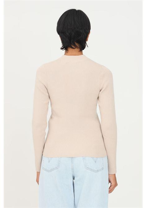 Beige women's sweater by levi's with ribs LEVI'S | Knitwear | A0719-00020002