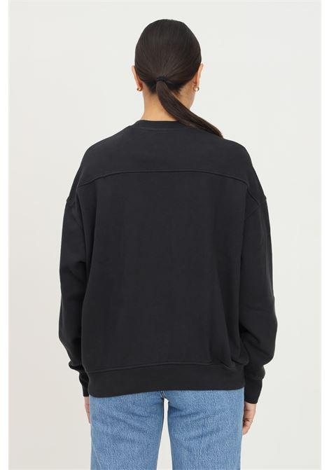 Black women's sweatshirt by levi's, crew neck model with tone on tone logo LEVI'S | Sweatshirt | A0886-00080008