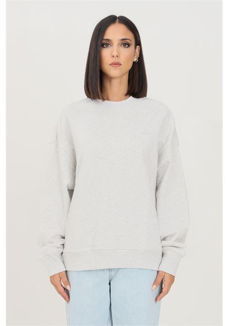 Felpa donna grigio levi's modello girocollo con logo ricamato tono su tono LEVI'S | Felpe | A0886-00140014