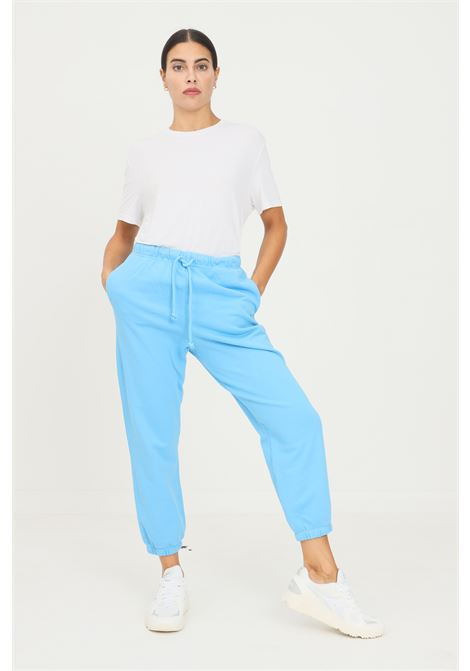 Light blue women's trousers by levi's, casual model with elastic waistband LEVI'S | Pants | A0887-00000000