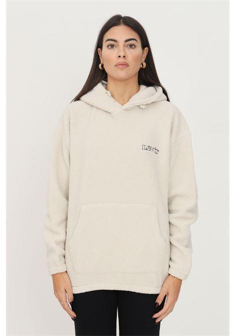 Cream unisex hoodie by levi's, plush effect LEVI'S | Sweatshirt | A1034-00000000