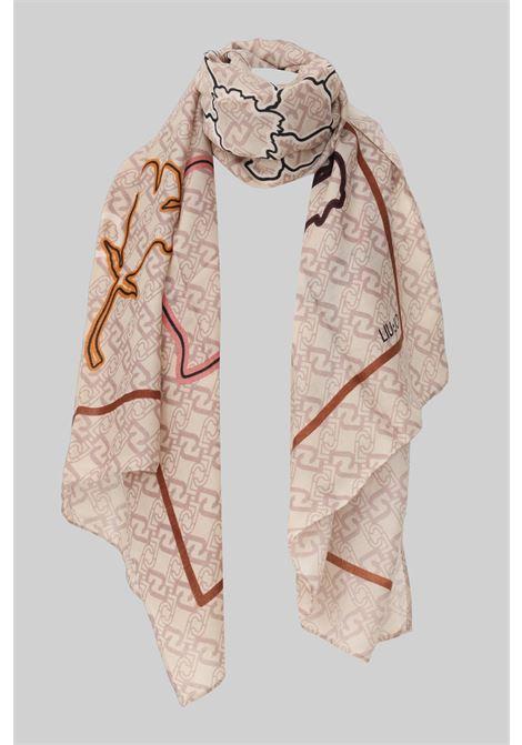 Fantasy women's scarf by liu jo with allover logo print LIU JO | Scarf | 2F1052T0300X0255