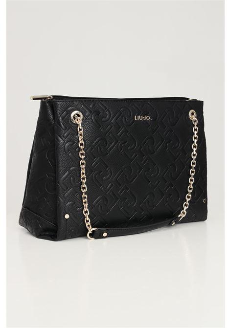 Black women's shopper with shoulder strap liu jo LIU JO | Bag | AF1046E053822222