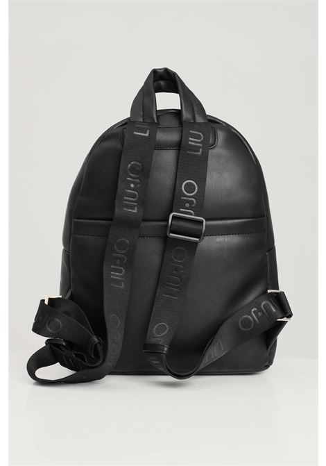 Black women's backpack by liu jo with quilted logo LIU JO | Backpack | AF1083E000222222