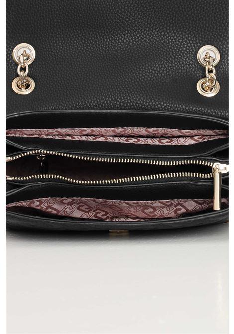 Black women's bag with shoulder strap eco-sustainable liu jo  LIU JO | Bag | AF1151E053822222