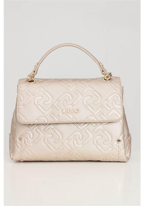Gold women's bag with shoulder strap eco-sustainable liu jo  LIU JO | Bag | AF1151E053890048