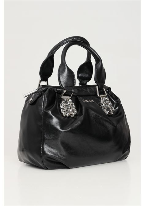 Black women's bag with jewel detail liu jo  LIU JO | Bag | AF1163E000422222