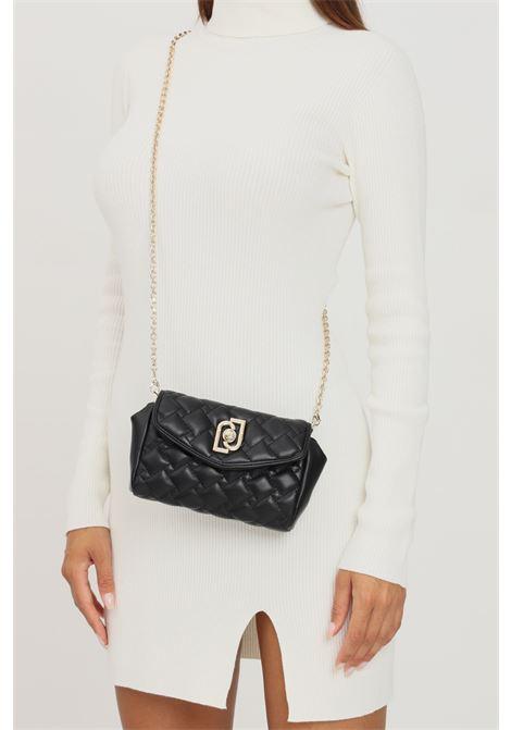 Black women's bag by liu jo with shoulder strap quilted model   LIU JO   Bag   AF1177E000522222