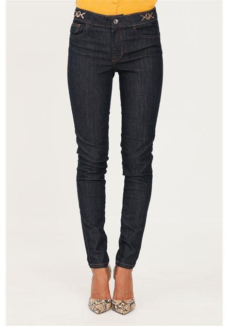 Blue women's jeans by liu jo with gold applications LIU JO   Jeans   UF1013D309277000