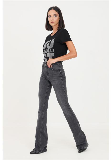 Black women's jeans by liu jo with mini metal logo application on the back LIU JO   Jeans   UF1015D426887276