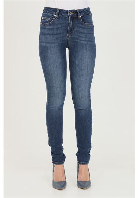 Jeans donna denim blue liu jo a vita bassa con chiusura con zip e bottone. Modello skinny a 5 tasche con lavaggio 0 LIU JO | Jeans | UXX037D418677539