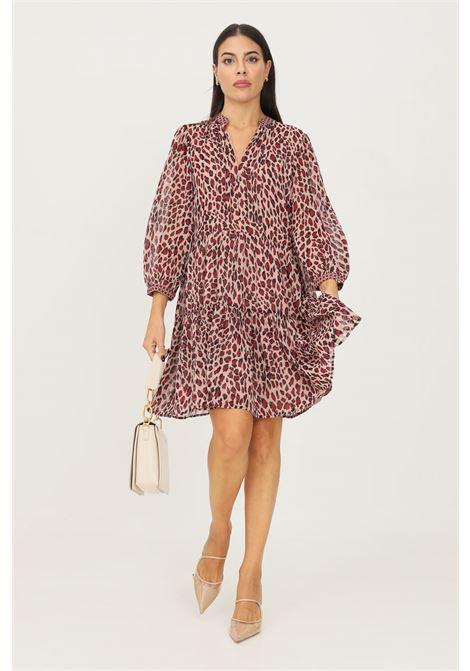 Printed dress by liu jo short cut with allover animal print  LIU JO   Dress   WF1019T5975S9197