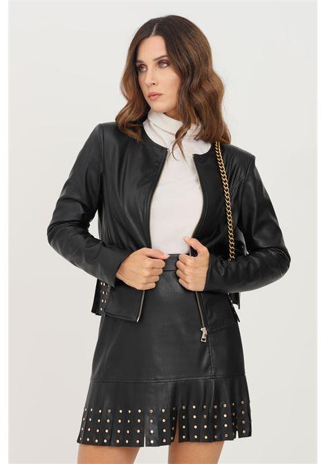 Black women's jacket by liu jo in eco leather LIU JO   Jacket   WF1084E039222222