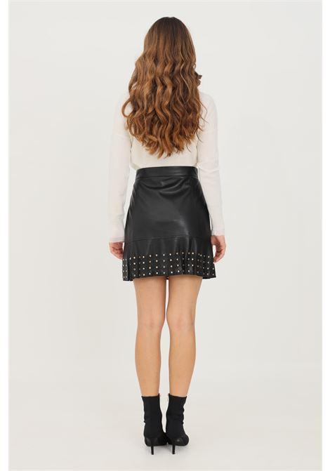 Black women's skirt by liu jo with fringes and studs LIU JO   Skirt   WF1100E039222222