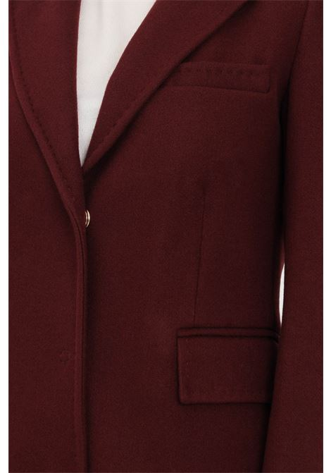 Bordeaux women's coat by liu jo long cut with concealed buttons LIU JO | Coat | WF1121T4612X0201