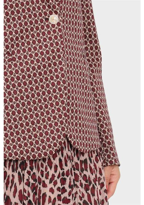 Multicolor women's jacket by liu jo with allover print LIU JO | Blazer | WF1183J1657S9175