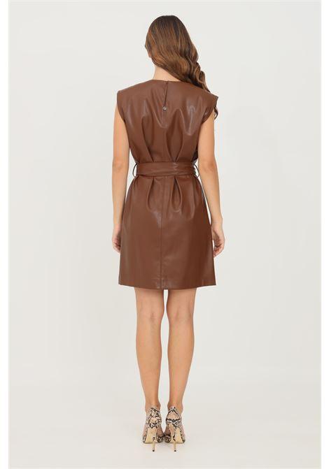 Brown women's dress by liu jo, midi cut LIU JO   Dress   WF1512E0758X0401