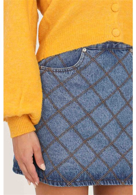 Orange women's cardigan by liu jo with front buttons LIU JO   Cardigan   WF1556MA79LX0200