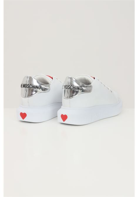 White women's sneakers with tone on tone logo love moschino  LOVE MOSCHINO | Sneakers | JA15284G1D-IA610A
