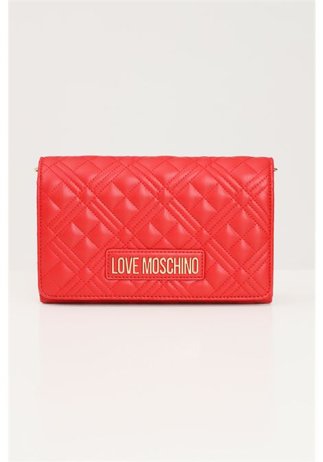 Red women's bag with gold chain shoulder strap love moschino  LOVE MOSCHINO | Bag | JC4079PP1D-LA2500