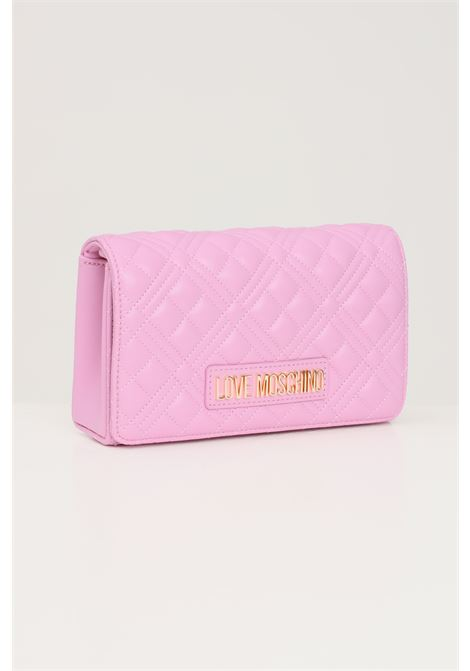 Pink women's bag with gold chain shoulder strap love moschino  LOVE MOSCHINO | Bag | JC4079PP1D-LA2607