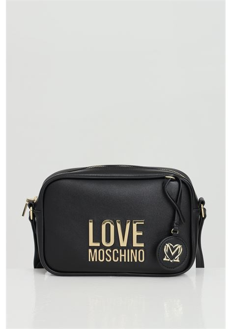 Black bag with leather shoulder strap and zip closure. Steel logo. Love moschino LOVE MOSCHINO | Bag | JC4107PP1C-LJ000A