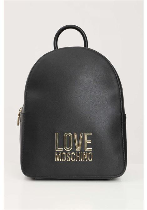 Zaino donna nero love moschino con logo oro in rilievo LOVE MOSCHINO | Zaini | JC4109PP1D-LJ000A