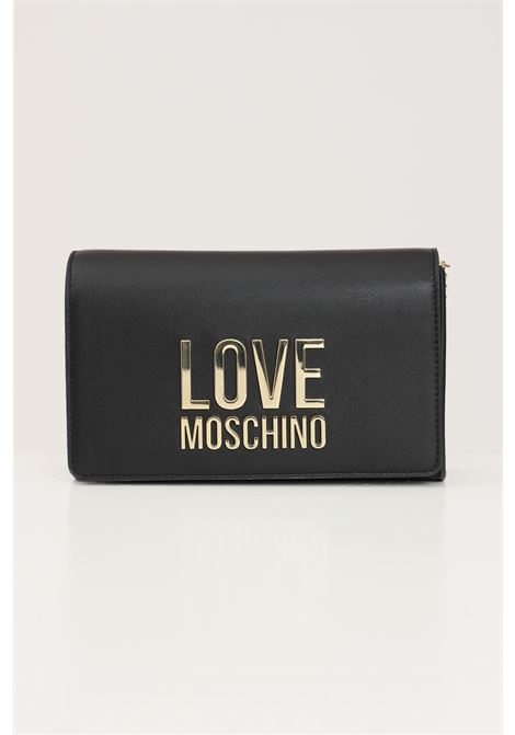 Black women's bag with chain shoulder strap love moschino LOVE MOSCHINO | Bag | JC4127PP1D-LJ000A