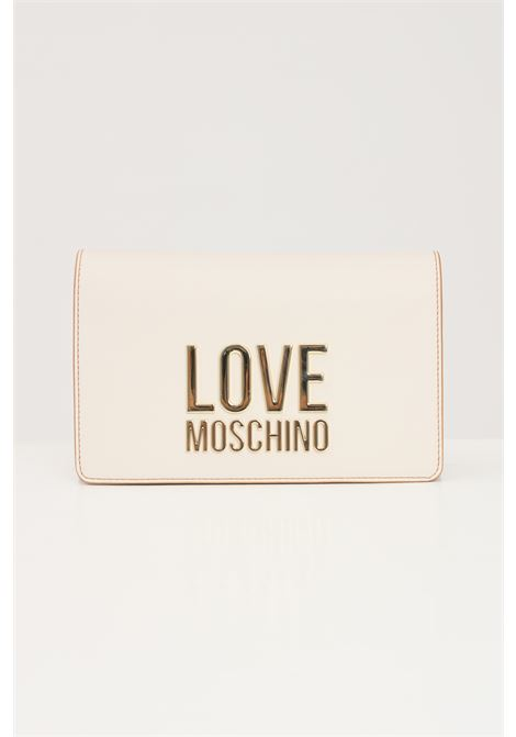 Cream women's bag with chain shoulder strap love moschino LOVE MOSCHINO | Bag | JC4127PP1D-LJ010A