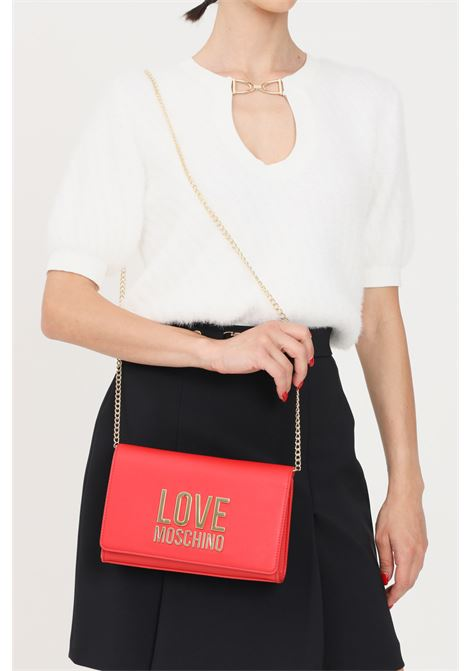 Red women's bag with chain shoulder strap love moschino LOVE MOSCHINO | Bag | JC4127PP1D-LJ050A