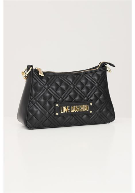 Black women's bag with chain handle and removable shoulder strap love moschino LOVE MOSCHINO | Bag | JC4135PP1D-LA0000