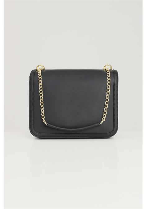 Black women's bag with chain and fabric shoulder strap love moschino  LOVE MOSCHINO | Bag | JC4149PP1D-LE0000