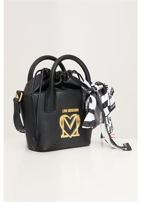 Black women's bag with adjustable shoulder strap and drawstring closure love moschino LOVE MOSCHINO | Bag | JC4216PP1D-LL0000