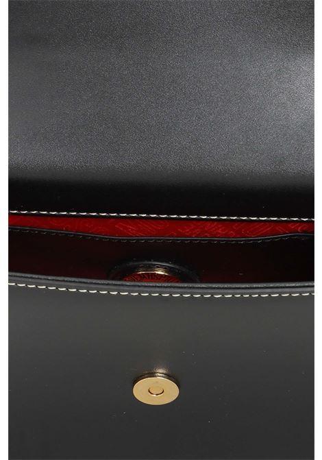 Borsa donna nero love moschino con tracolla e impunture a contrasto LOVE MOSCHINO | Borse | JC4239PP0D-KB0000