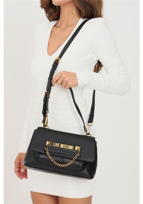 Borsa donna nero love moschino con manico e tracolla removibile LOVE MOSCHINO | Borse | JC4242PP0D-KC0000